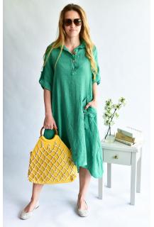 1318 šaty len dlouhé Itálie
