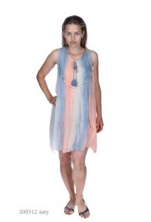 9506 šaty hedvábí Itálie