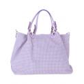 kožená kabelka itálie shoperka lila fialová