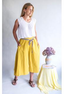 5320 kalhoty culottes len Itálie