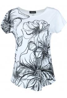 Natali triko potisk černá květina