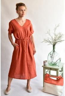 8857 šaty Len Itálie