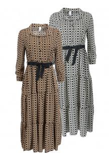 Pink Black 16850 šaty Itálie- delší