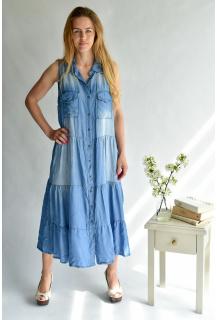 80812 Šaty dlouhé Jeans Itálie