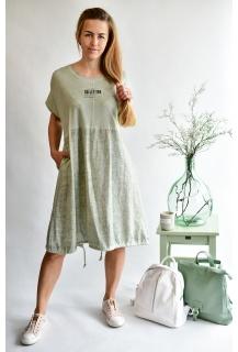 6780 šaty len Itálie