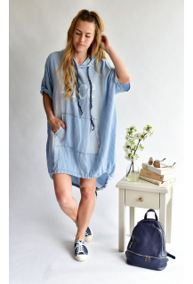 80716 Šaty Jeans Itálie