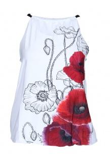 Top Pratto červený květ 1083
