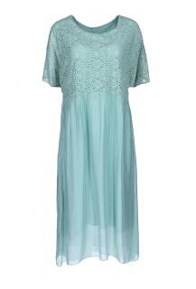 8639 šaty hedvábí krajka Itálie