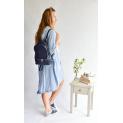 kožený batoh tmavě modrý