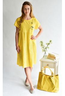63521 šaty len Itálie