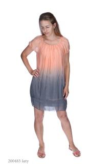 2657 šaty hedvábí ombré Itálie