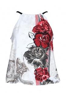 Top Pratto červený květ 1258
