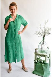 8851 šaty Len Itálie