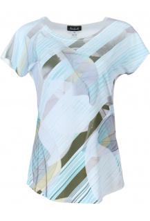 Natali triko potisk abstraktní pruh